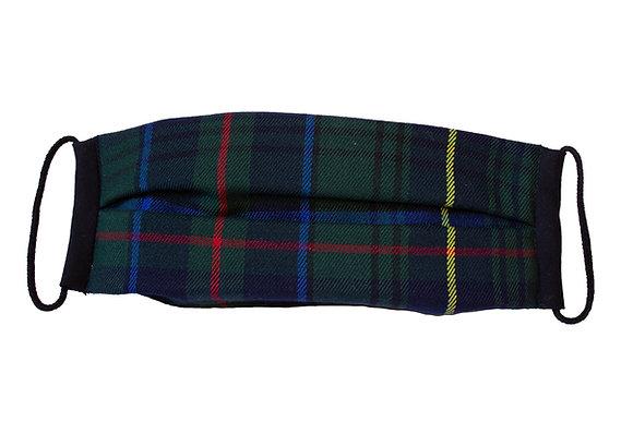 Cubre Mascarilla Cuadros Escoceses Verde