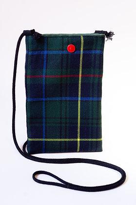 Porta Móvil Cuadros Escoceses Verde