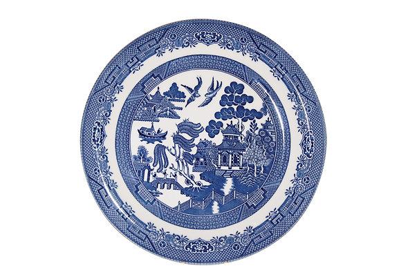 Plato grande Blue Willow 26 cm