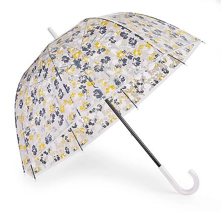 Paraguas transparente Mostaza/Gris