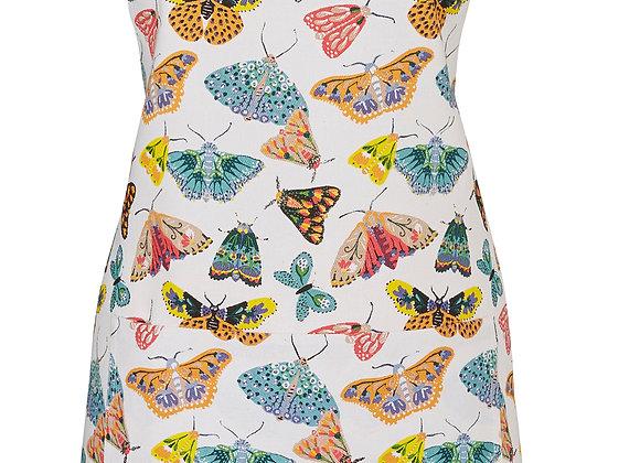 Delantal algodón mariposas