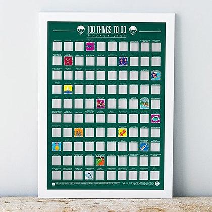 Poster reto : hacer 100 cosas