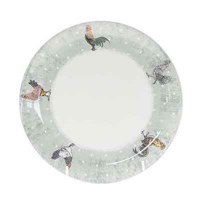 Plato postre porcelana Gallinas 20cm