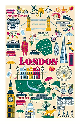 Paño algodón London Calling