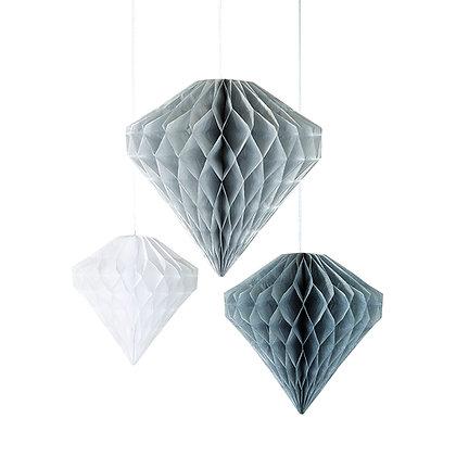 3 decoración diamante papel
