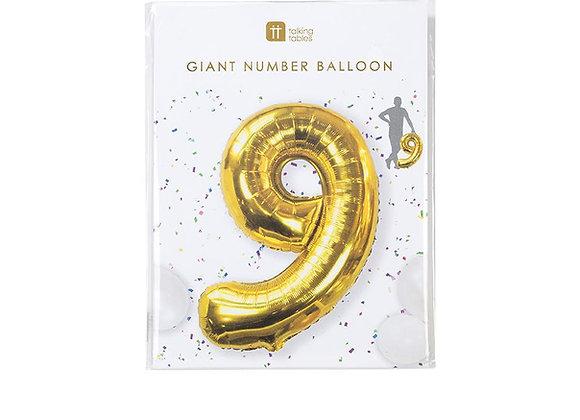 "Globo gigante Numero ""9"""
