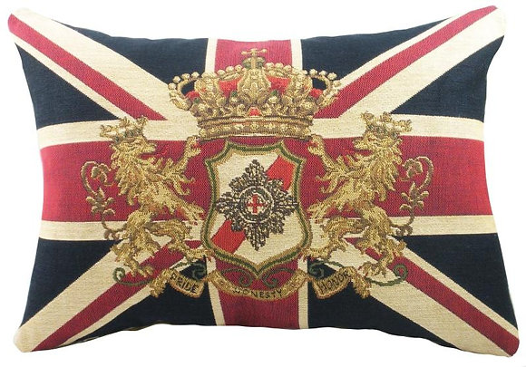 Cojín bandera inglesa emblema