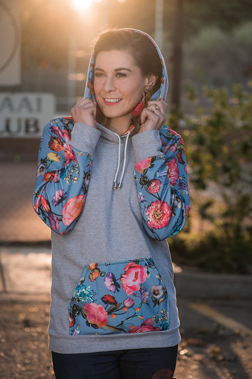 The Grace Hoodie - Spring florals