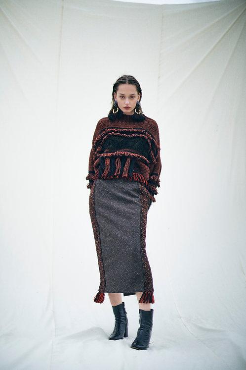 Fringe Tight skirt