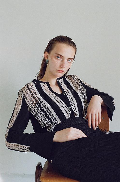 Mix lace Cardigan Shirt