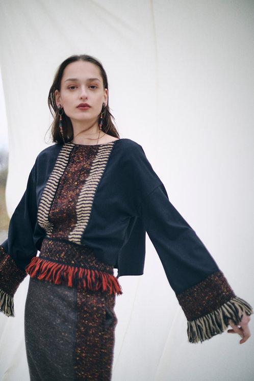 Wool lace Blouse