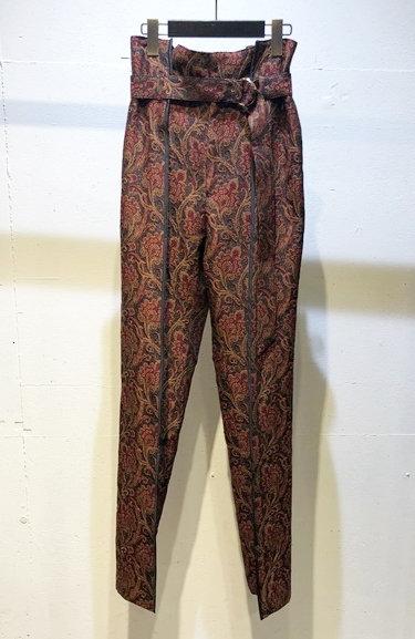 Paisley Tuck Straight pants