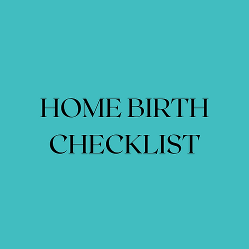 Home Birth Checklist