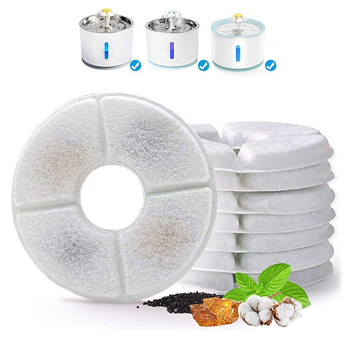 Kit Filtro Carbono Ativado para Fonte Pet VIP