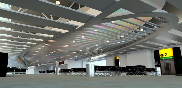 Heathrow - Terminal 4 - Departures Render- Gebler Tooth
