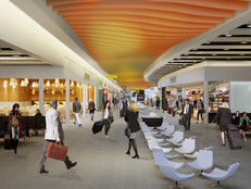Heathrow - Terminal 4 - Departures Render - Gebler Tooth