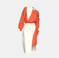Ekaterina Orange/Cream Dress Stylexchange.png