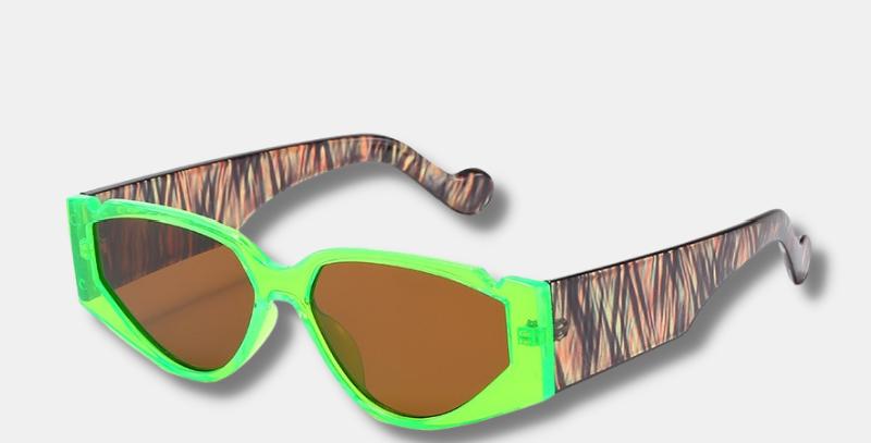 "Triangle Neon Sunglasses - ""Amanda"""