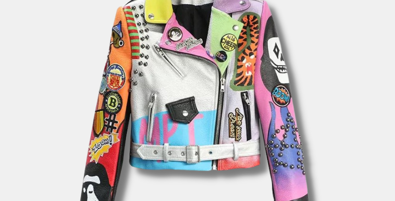 """Colorful Leather Jacket - """"Paige"""""""