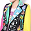 Thumbnail: Patched colorful cropped Leather Jacket