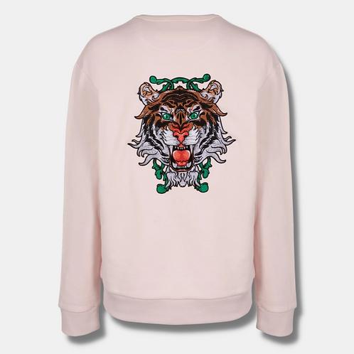 Rosé Oversized Tiger Sweater