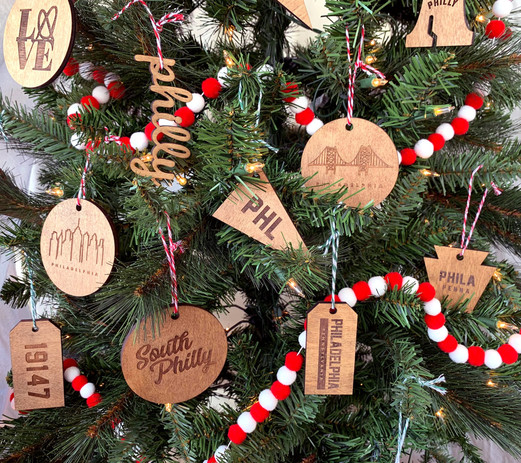 Philly Ornaments