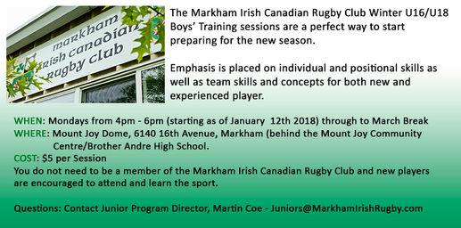 Markham Irish Rugby - News