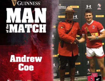 Andrew Coe awarded Man of the Match as Canada falls to Maori All Blacks in BC