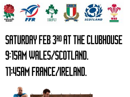 6 Nations at Clubhouse Sat Feb 3