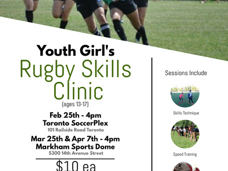 Youth Girl's Rugby Skills Clinic
