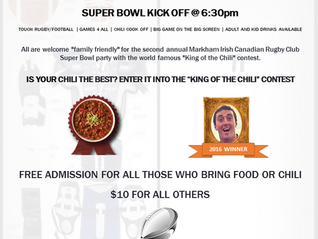 Super Bowl Sunday (Feb 5) at the Club!