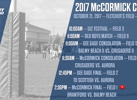 Balmy Beach and Brantford to battle for McCormick Cup October 21