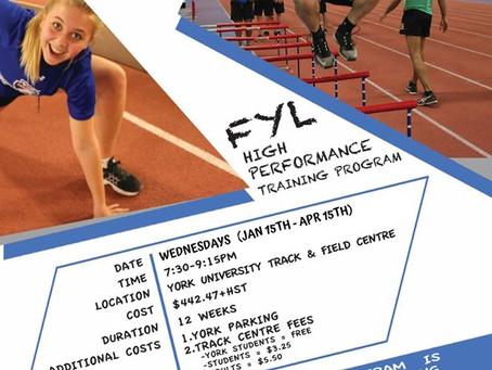 High Performance Training Program Starting Jan 15