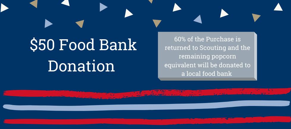 Earn Rewards: $50 Local Food Bank Donation