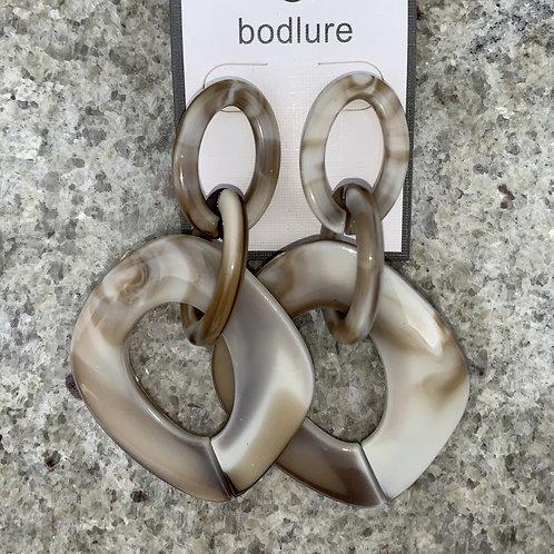 Blane - Brown stone earrings