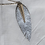 Thumbnail: Icon - Large gray leaf feather necklace
