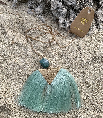 Ori - Mint tassle gold necklace