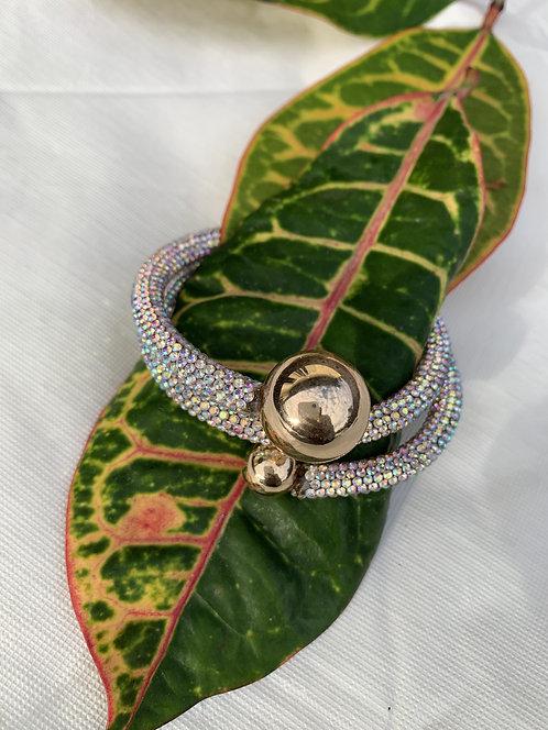 Adriana - Iridescent glitter twist bracelet
