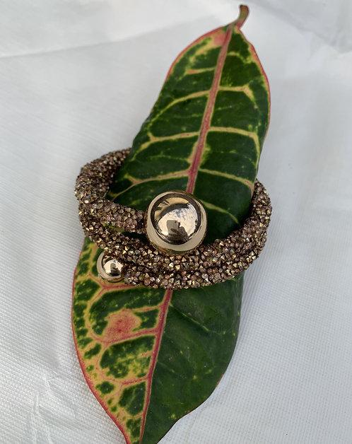 Adriana - Bronze glitter twist bracelet