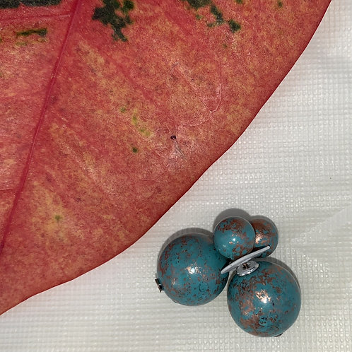Doubles - Teal double sided earrings