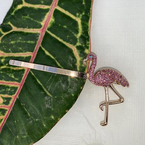 Flamenco - Pink flamingo hairclip