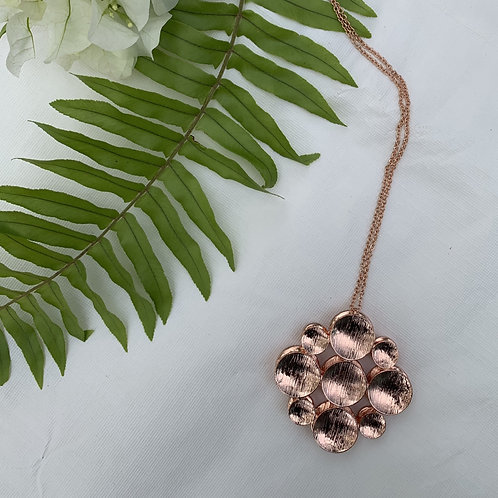 Rosa - Rose gold orb necklace