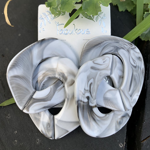 Marble - Marble swirl earrings