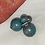 Thumbnail: Doubles - Teal double sided earrings
