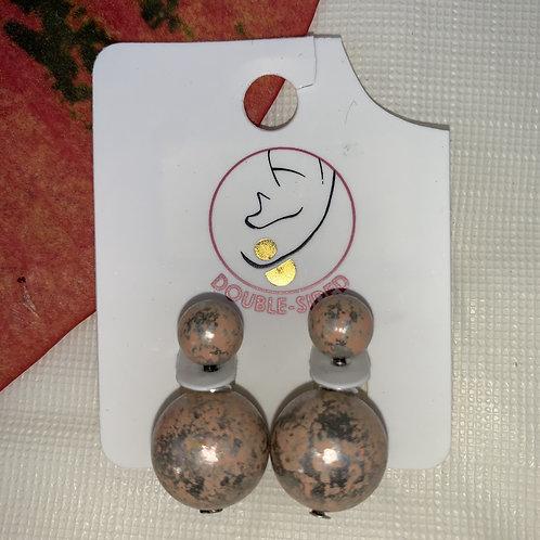 Doubles - Tan double sided earrings