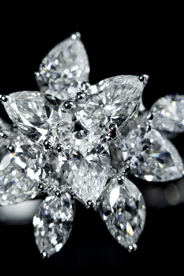 Cluster Diamonds Ring
