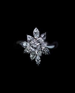 Cluster Diamonds Ring