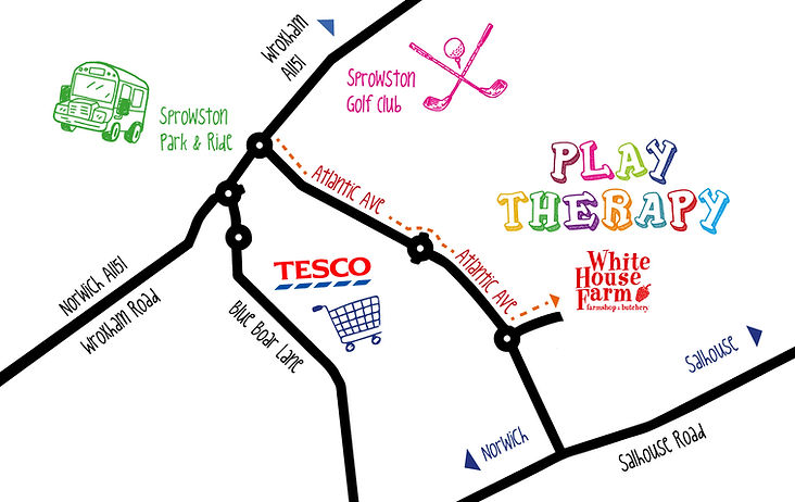 Child Play Therapy Norwich Play Therapy with Karen Hammond White House Farm Directions Map