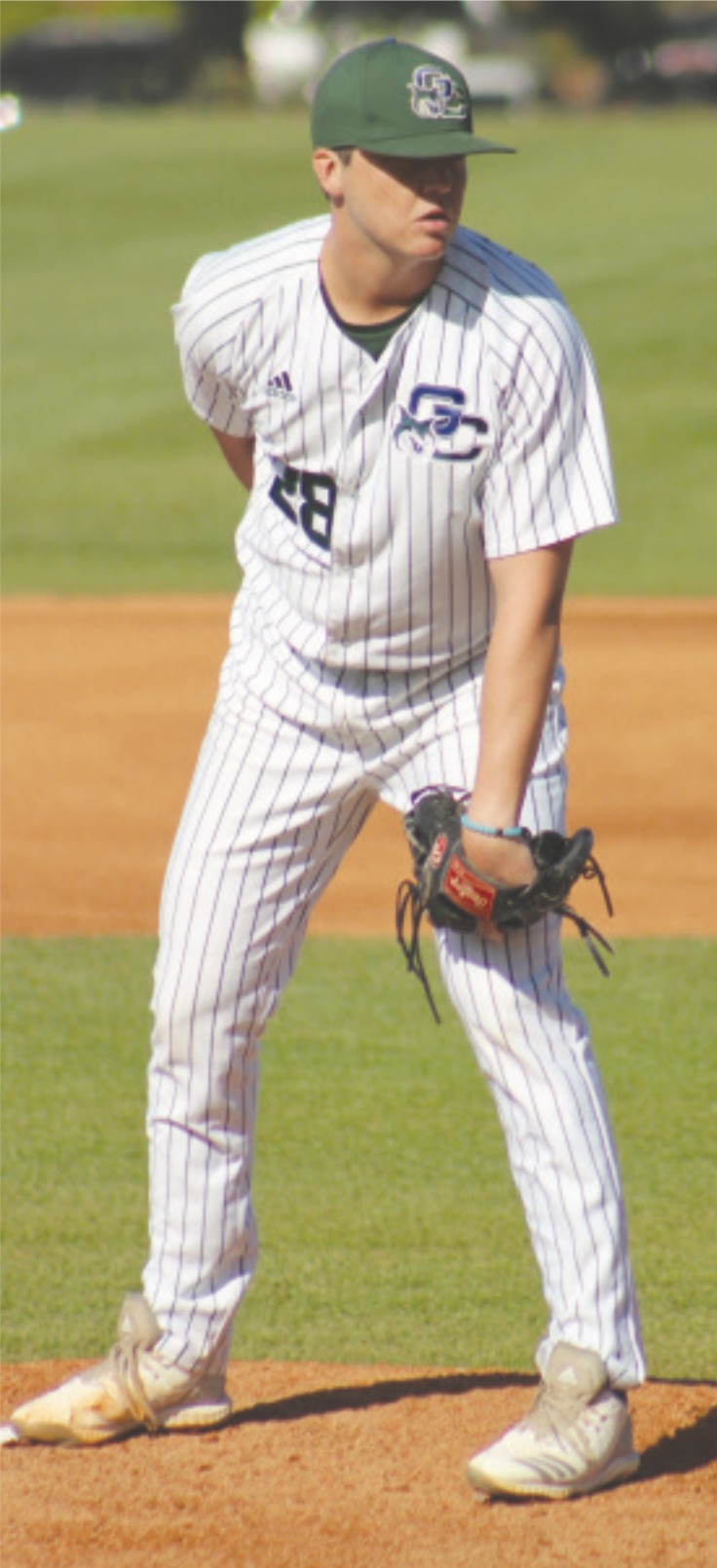 Kyle King takes the mound against Colombus State on April 26, 2019