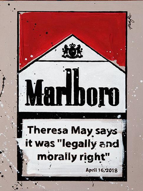 Legal and Moral - Marlboro Cigarette Boxes